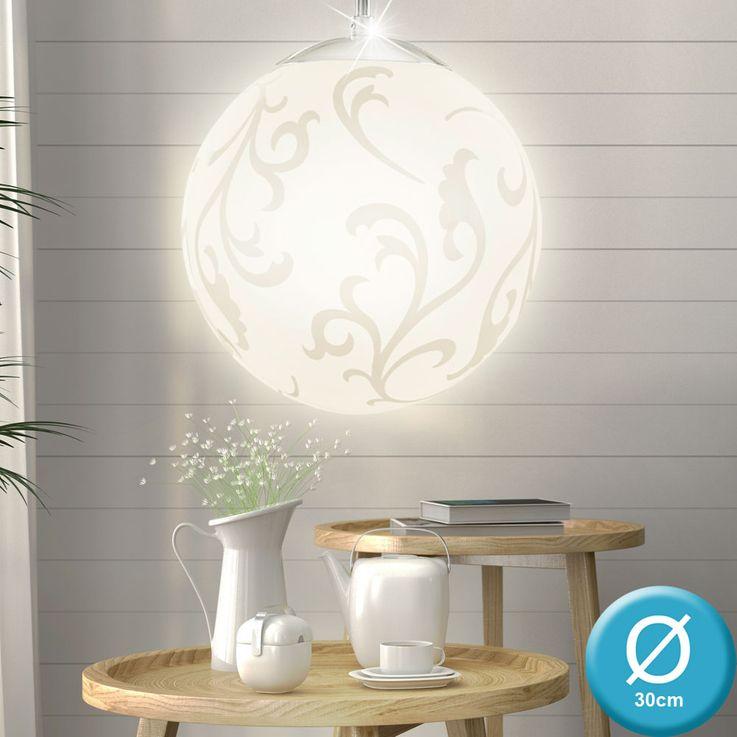 RGB LED glass pendant with decorative pattern REBECCA – Bild 3