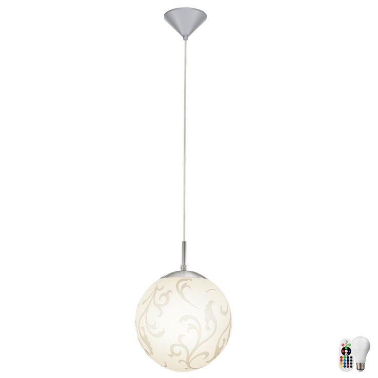 RGB LED glass pendant with decorative pattern REBECCA – Bild 1
