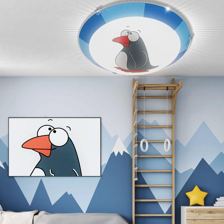 Decken Wand Lampe Baby Spiel Zimmer Jungen Mädchen Tier Motiv Leuchte Pinguin EGLO 78187 – Bild 2