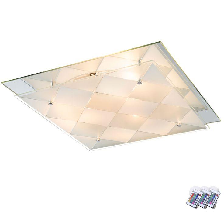 LED RGB Design ceiling light with mirror for the corridor DUBBI – Bild 1