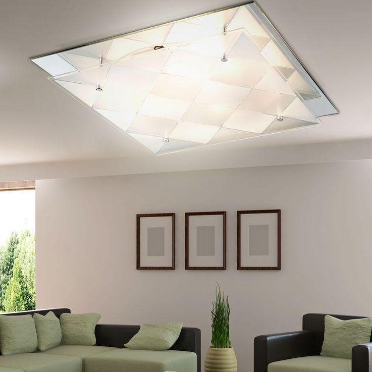 LED RGB Design ceiling light with mirror for the corridor DUBBI – Bild 3