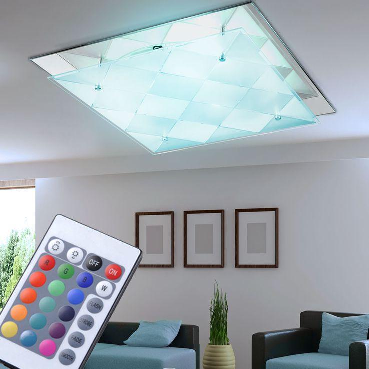 LED RGB Design ceiling light with mirror for the corridor DUBBI – Bild 2
