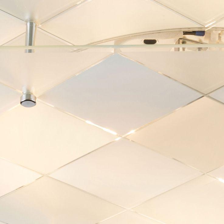 LED RGB Design ceiling light with mirror for the corridor DUBBI – Bild 6