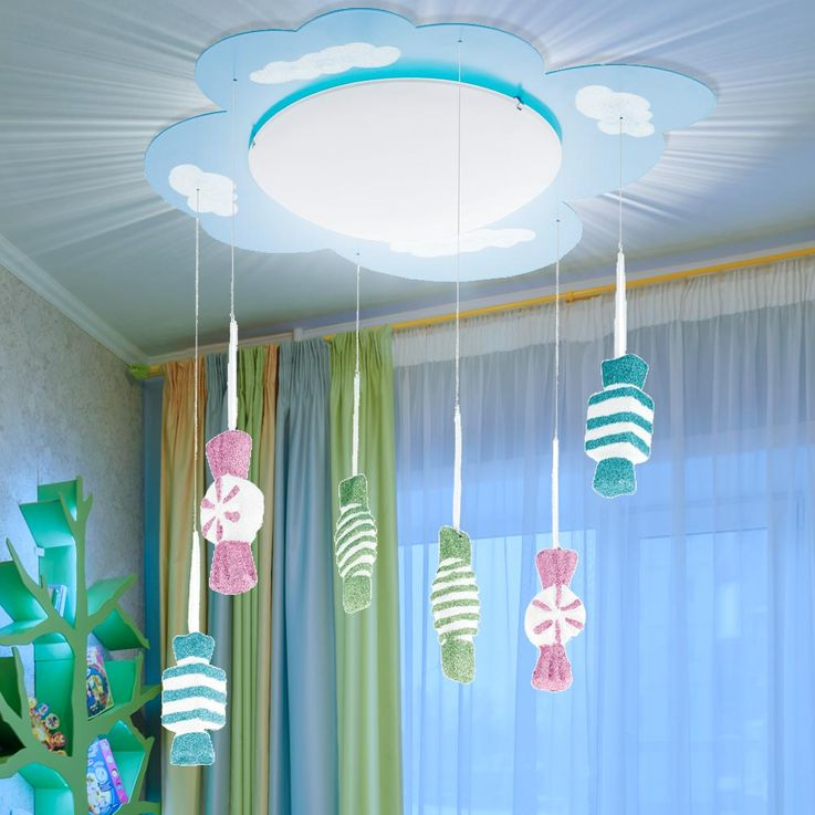 Kids Game Room Ceiling Lighting Hanging Lamp Glitter Candy Pendulum Lamp Glass Eglo 94748 – Bild 4