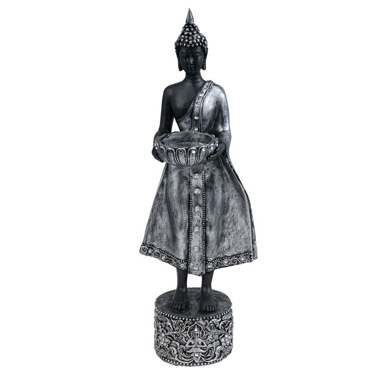 Buddha Figurine Asia Table Farster Bank Candles Stand Decoration Tealight Holder Eglo 41202 – Bild 1