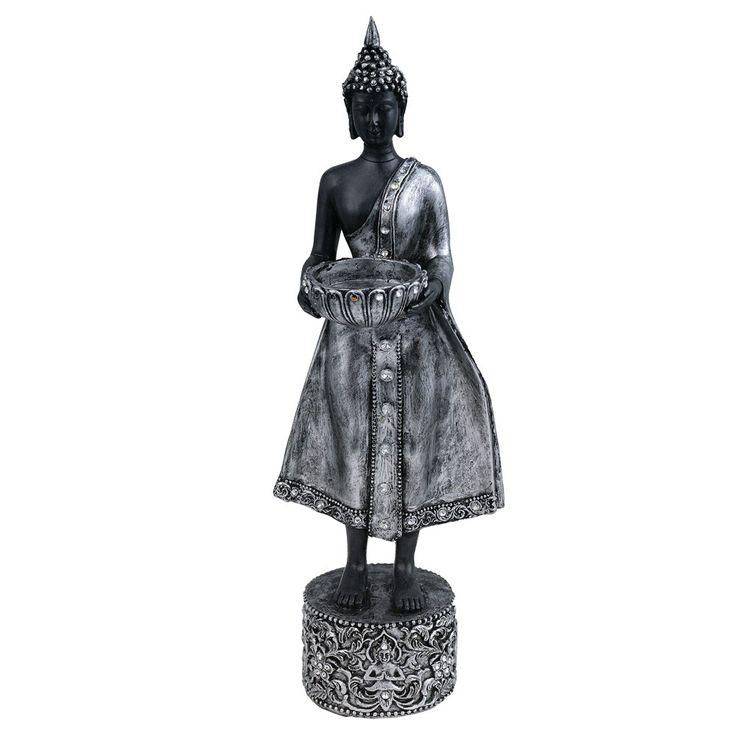 Buddha Figur Asia Tisch Fernster Bank Kerzen Ständer Dekoration Teelicht Halter Eglo 41202 – Bild 1