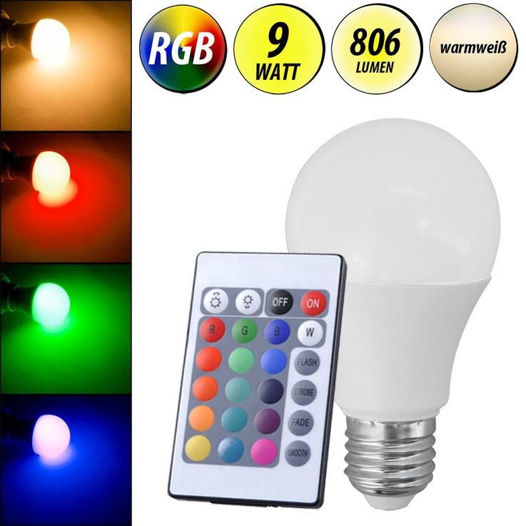 RGB LED bulb E27 bulb remote control 9W color change dimmer bulb 806lm warm white  Eglo10107 – Bild 2