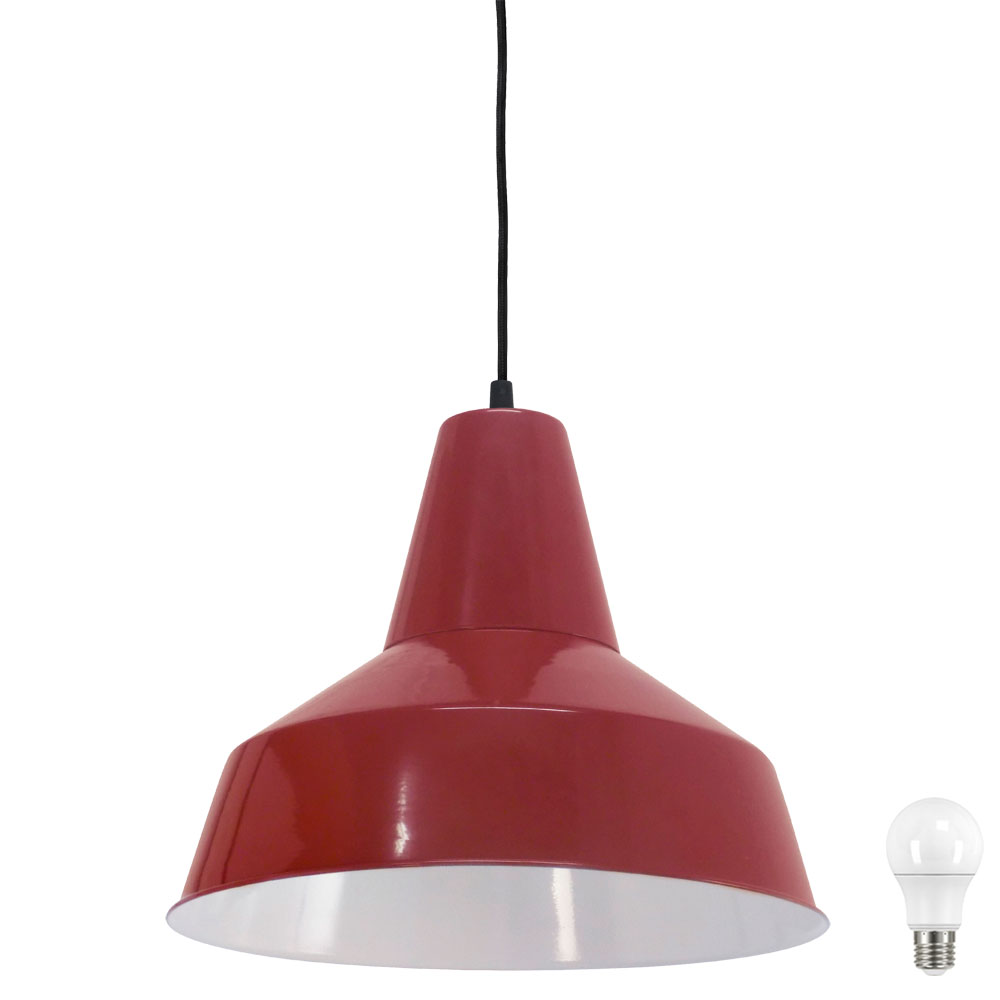 R tro led suspendu luminaire de plafond salle manger for Suspension rouge cuisine