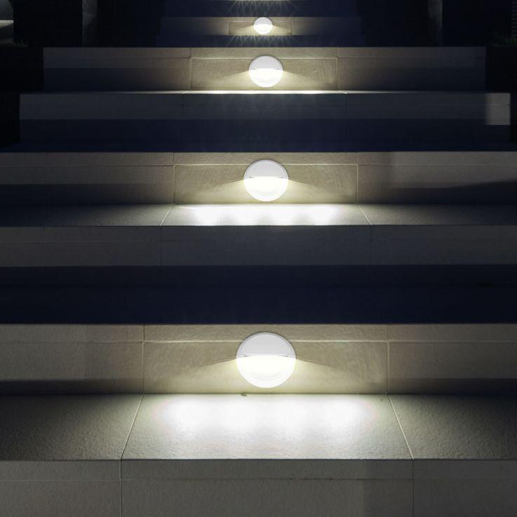 LED Wand Strahler rund Fassaden Außen Beleuchtung Veranda Treppen Stufen Lampe weiß V-TAC 1314 – Bild 5