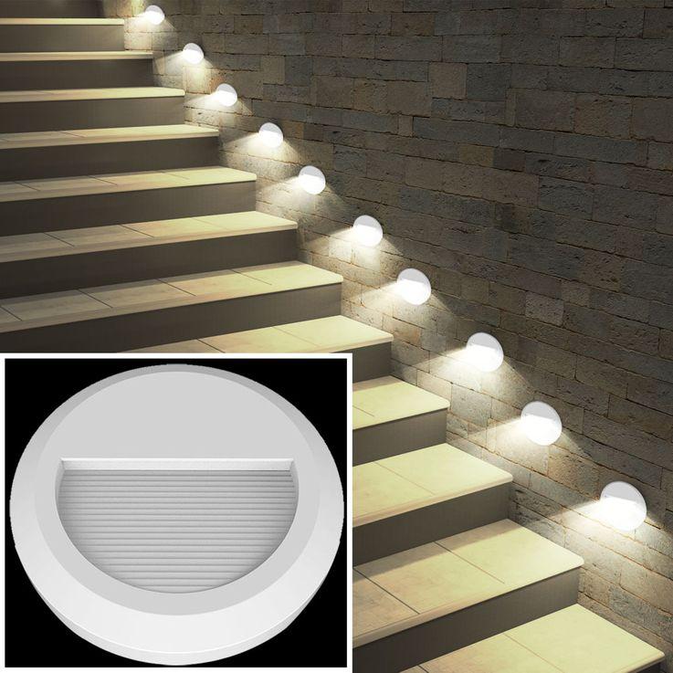 LED Wand Strahler rund Fassaden Außen Beleuchtung Veranda Treppen Stufen Lampe weiß V-TAC 1314 – Bild 6