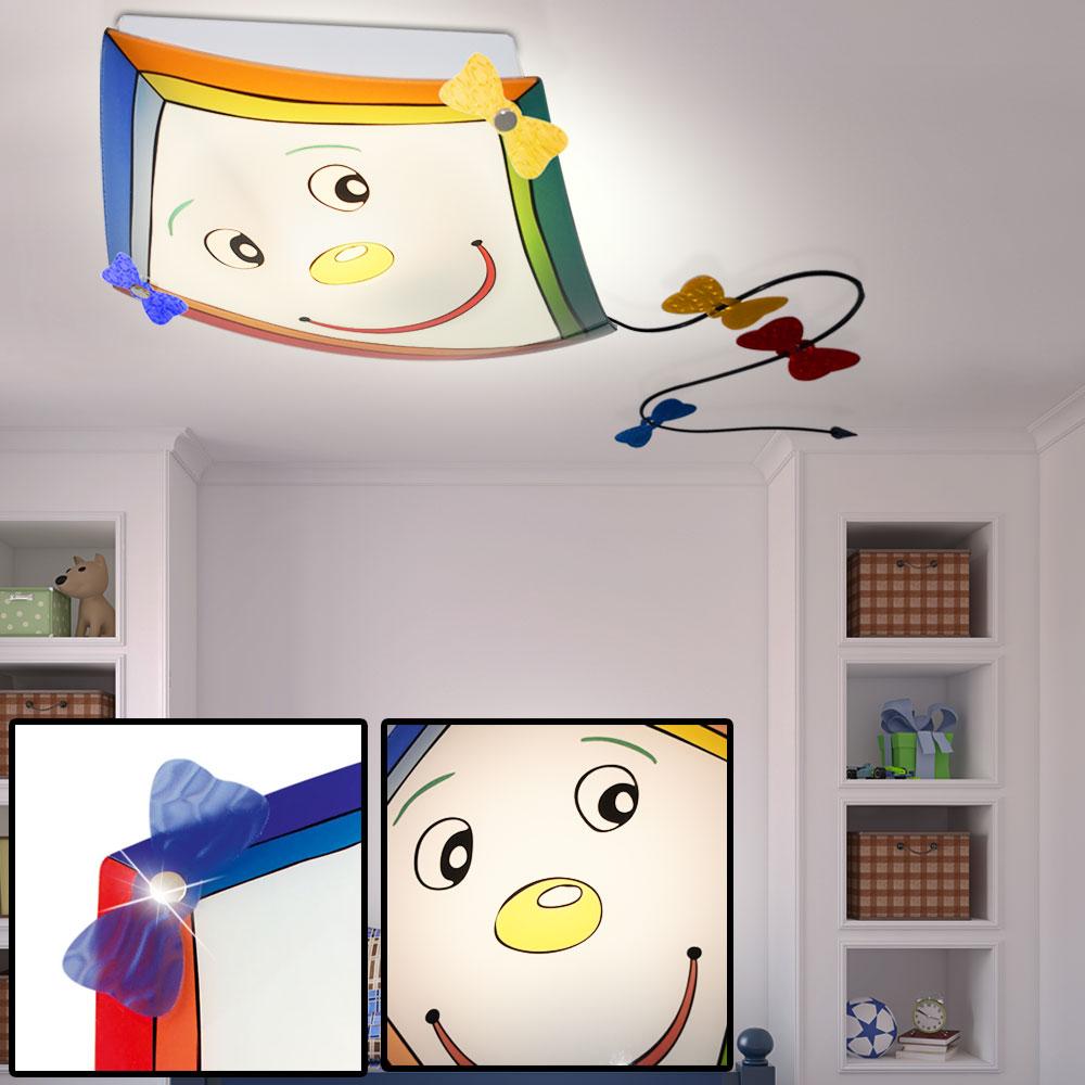 led wand decken glas lampe jungen drachen m dchen spiel zimmer strahler bunt ebay. Black Bedroom Furniture Sets. Home Design Ideas