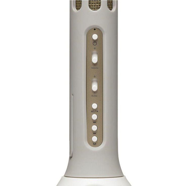 Karaoké Musique Bluetooth Microphone Enfants USB SD Party AUX Haut-parleur Blanc Denver KMS-10blanc – Bild 4