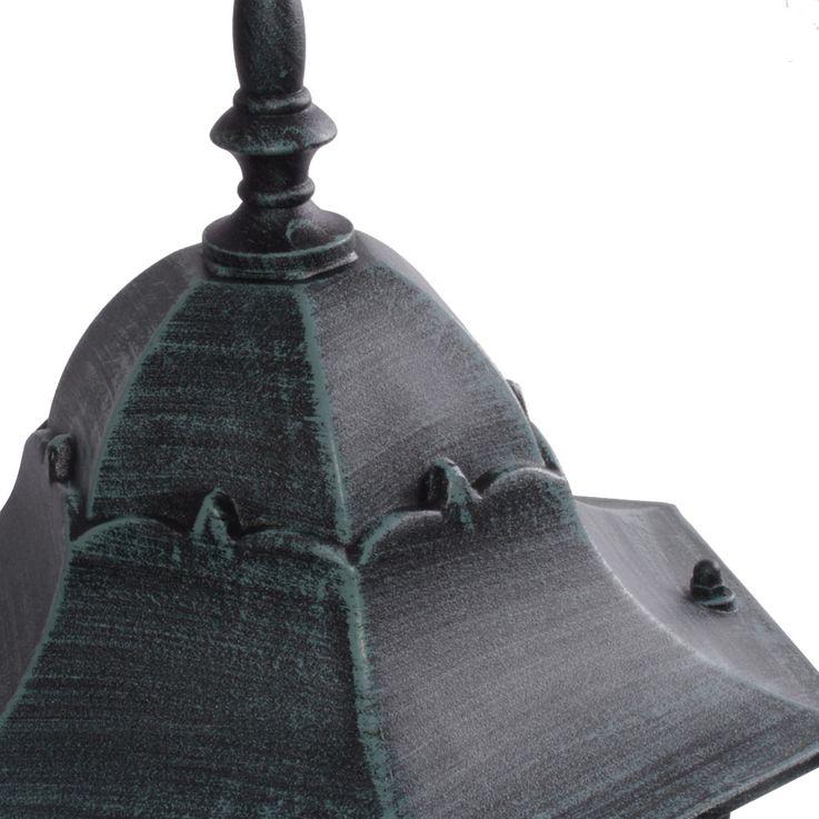 Rustikale Steh Leuchte Stand Lampe Laterne Beleuchtung Außen Strahler IP44 ALU Harms 103193 – Bild 5