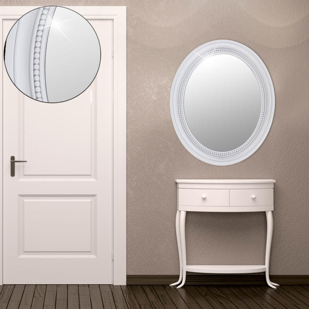 ovale spiegel mit ornamenten im rahmen unsichtbar lampen m bel m bel spiegel. Black Bedroom Furniture Sets. Home Design Ideas