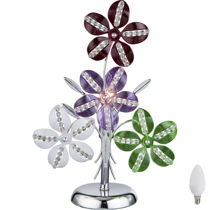 LED table lamp in floral design KAUNOS – Bild 1