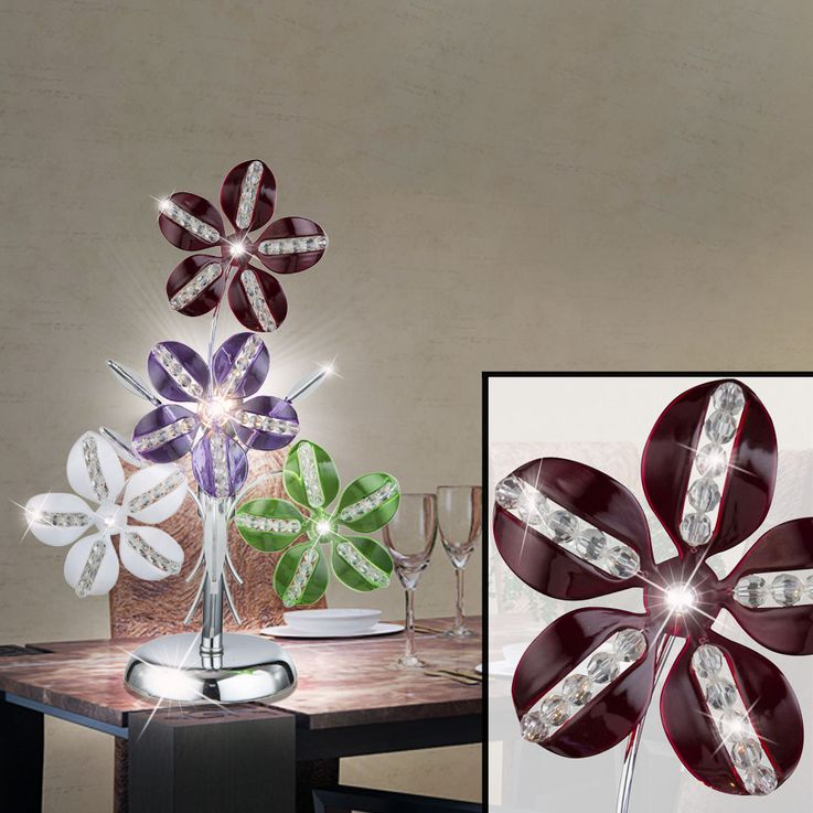 LED table lamp in floral design KAUNOS – Bild 3