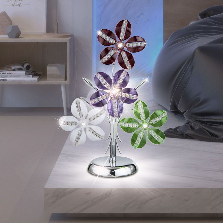 LED table lamp in floral design KAUNOS – Bild 2