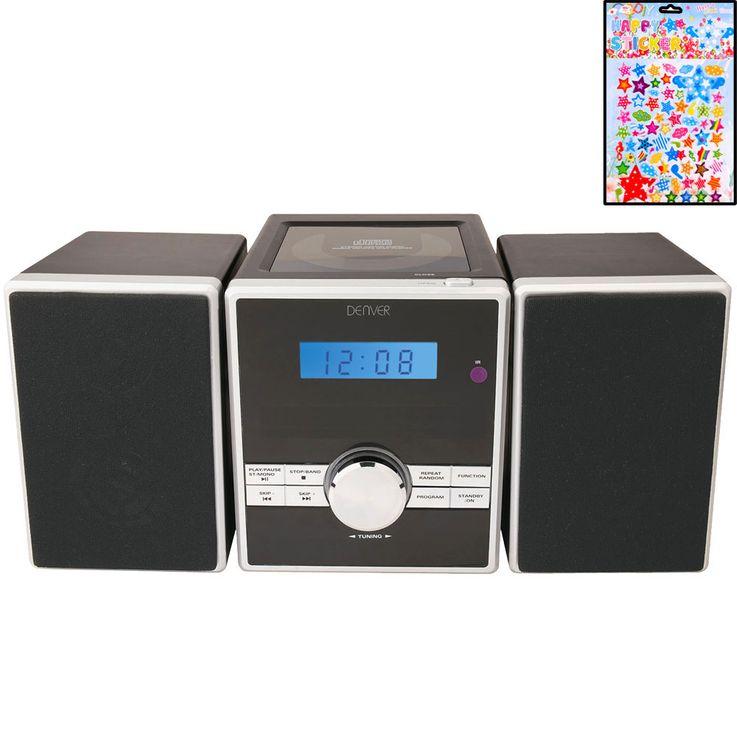 Musikanlage Radio Wecker UKW Toploader Stereoanlage Uhr CD Player im Set inklusive Sterne Sticker – Bild 1