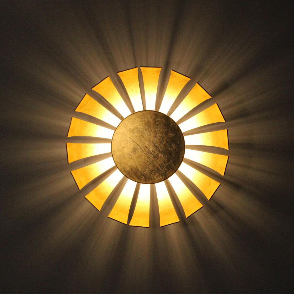 led effekt deckenleuchte wandlampe f r ihren flur gold. Black Bedroom Furniture Sets. Home Design Ideas