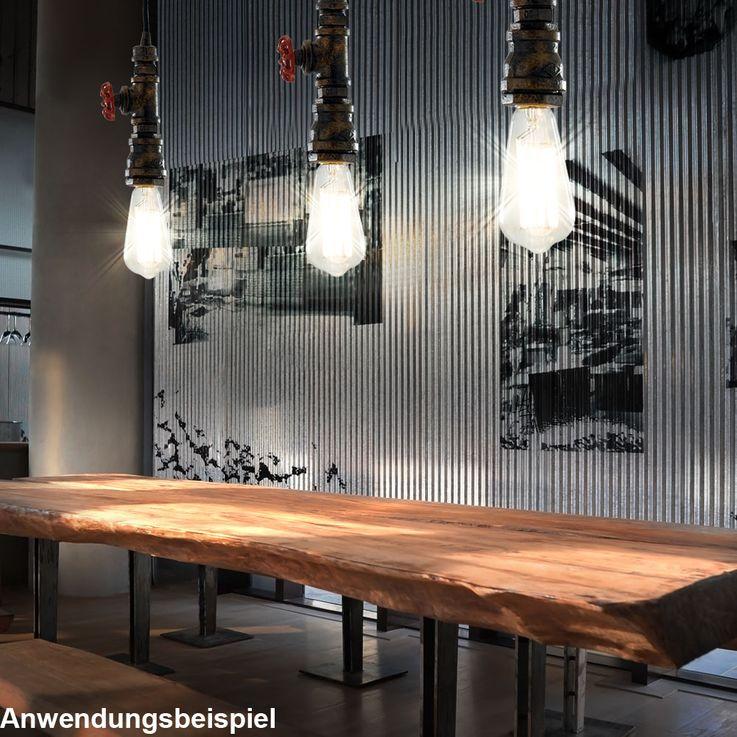 Retro Hängelampe im Wasserrohr Design, Höhe 120 cm AMARCORD – Bild 2