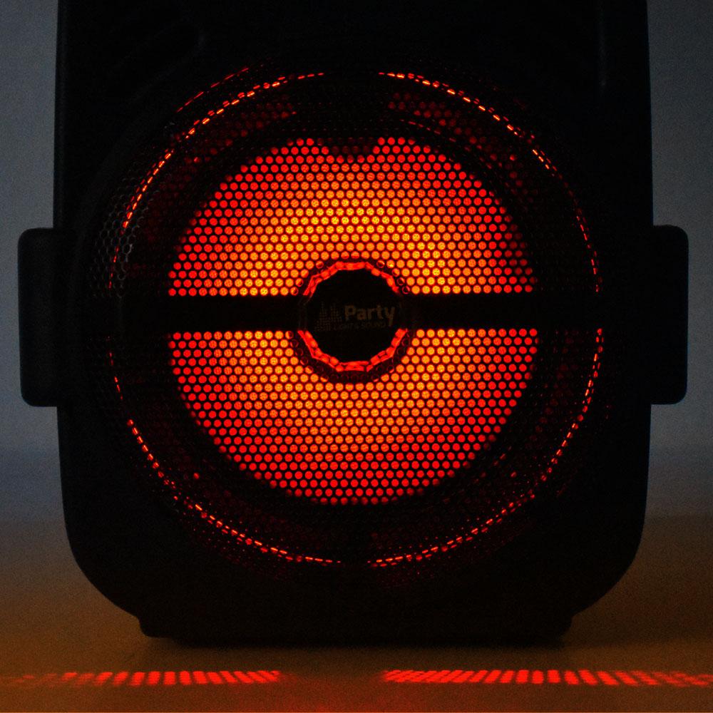 250W Mobile LED Musikanlage mit USB/Bluetooth und Mikro – Bild 6