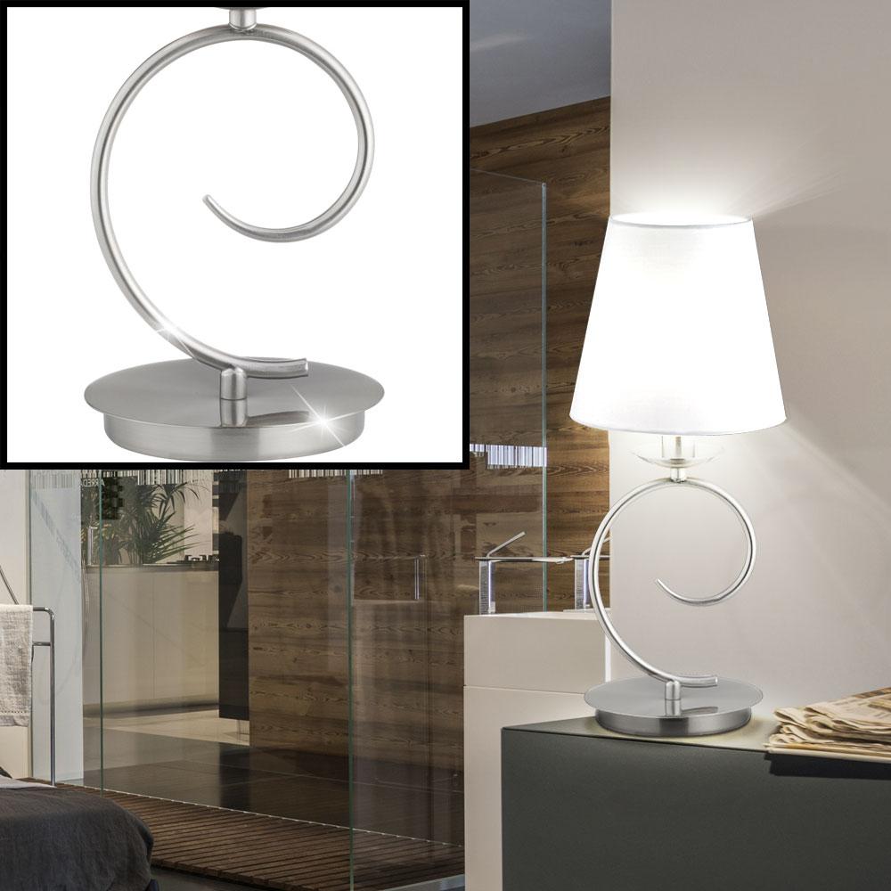 design tischleuchte mit wei em schirm aus textil twist lampen m bel innenleuchten. Black Bedroom Furniture Sets. Home Design Ideas