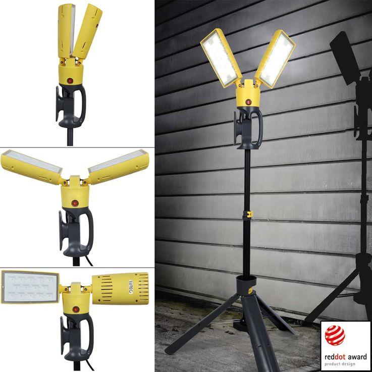 LED 35 Watt Bau Strahler Außen Garten Leuchte Haus Stativ Lampe Spot schwenkbar Eco Light 6290 – Bild 2