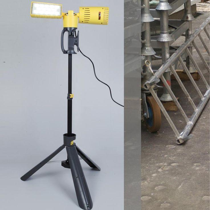 LED 35 Watt Construction Spotlight Outdoor Garden Lamp House Tripod Lamp Spot Swiveling Eco Light 6290 – Bild 3