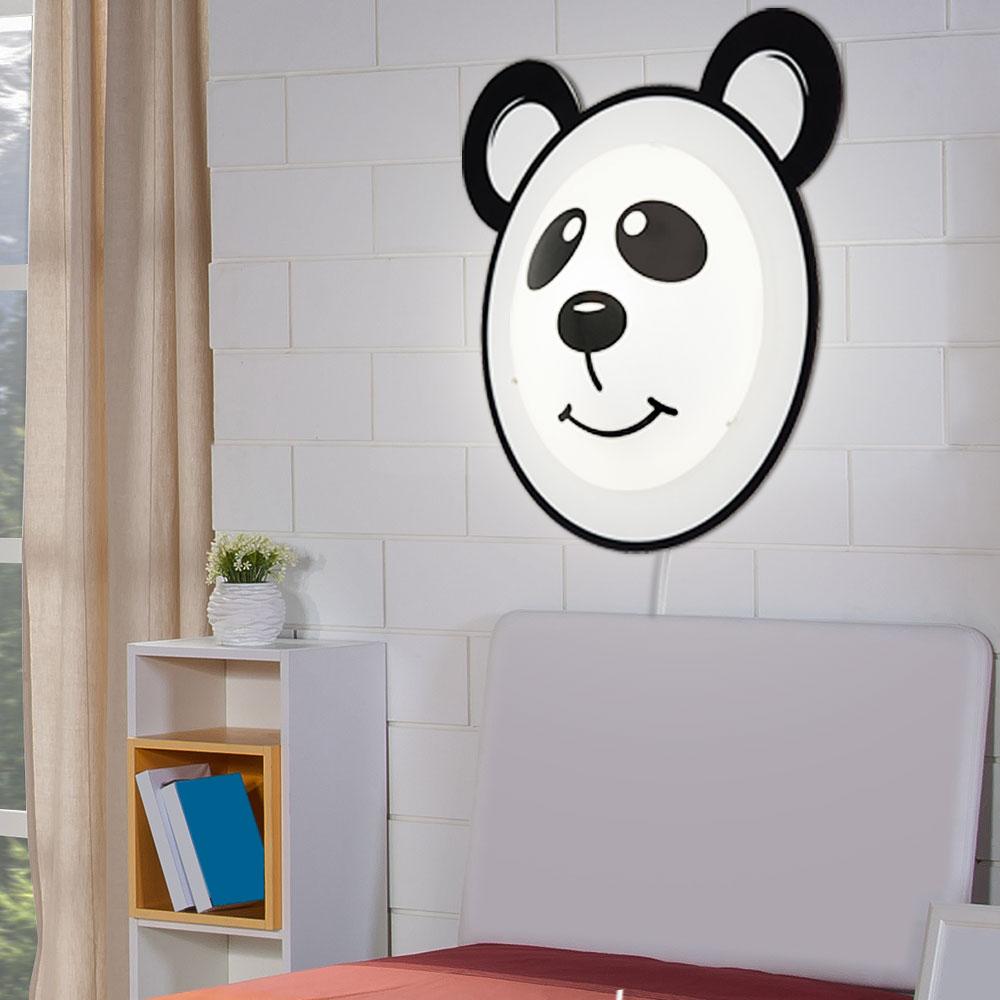 led wandlampe mit panda motiv f r das kinderzimmer pandino unsichtbar lampen m bel. Black Bedroom Furniture Sets. Home Design Ideas