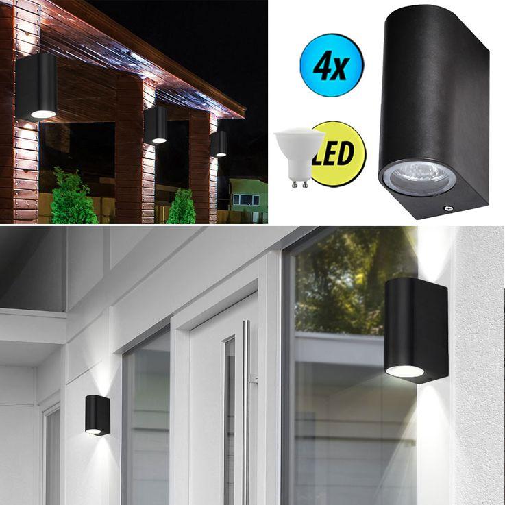 1-2-4-6-8-10x LED wall lights made of ALU in black – Bild 6