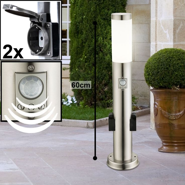 Outdoor Plug Cans Timer Power Distributor Garden Motion Sensor Lamps Stainless Porch Spotlights – Bild 16