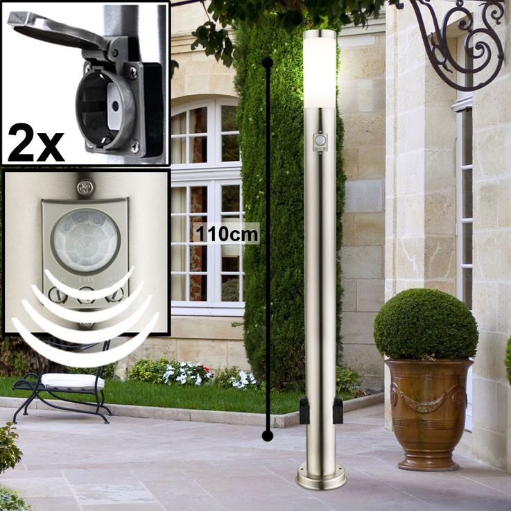 Outdoor Plug Cans Timer Power Distributor Garden Motion Sensor Lamps Stainless Porch Spotlights – Bild 17
