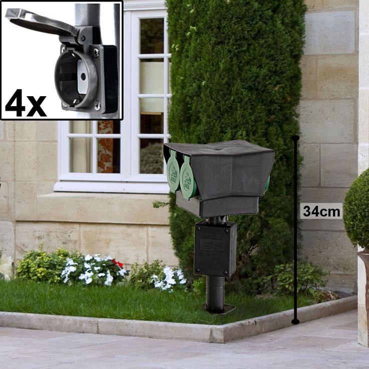 Outdoor Plug Cans Timer Power Distributor Garden Motion Sensor Lamps Stainless Porch Spotlights – Bild 8