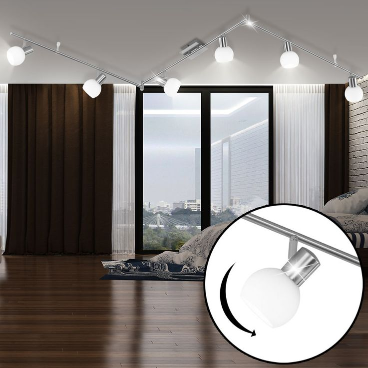 Luxury LED ceiling light living room glass spotlight beam lamp arms adjustable DE-LED-01061 – Bild 2