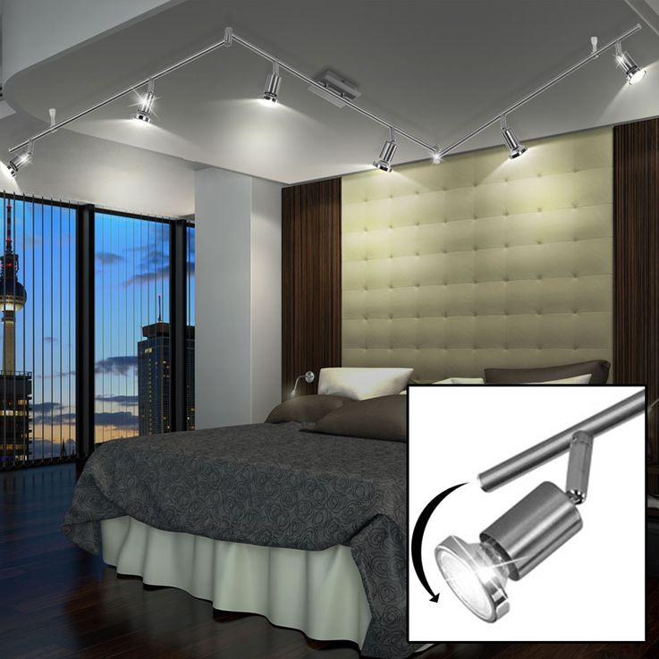 LED ceiling light with movable lamp arms and spots – Bild 3