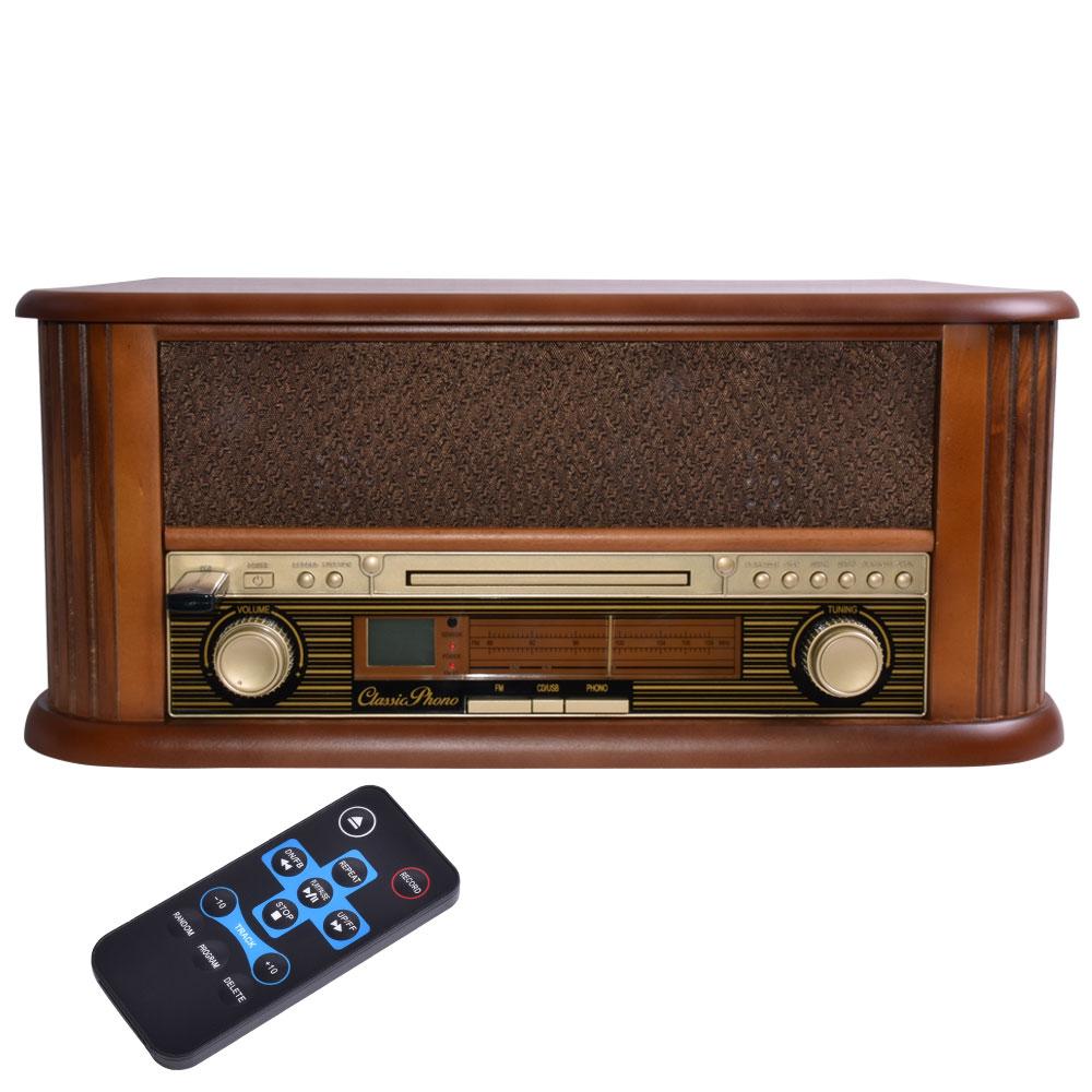 vintage vinyle son plaques cd lecteur bois radio usb mp3 installation ebay. Black Bedroom Furniture Sets. Home Design Ideas