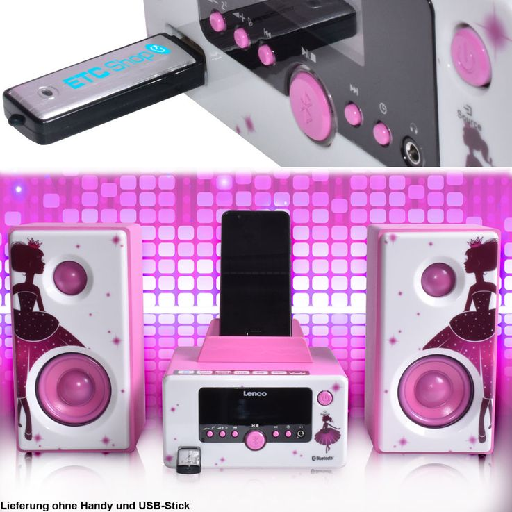 Princess design stereo with Bluetooth, USB and radio – Bild 2