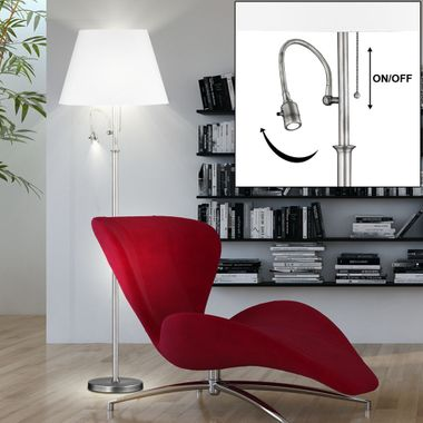 Plafonnier Floodlight Remote Salon Support de lecture Lampe dimmable dans l'ensemble y compris les ampoules LED RG – Bild 3