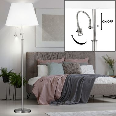 Plafonnier Floodlight Remote Salon Support de lecture Lampe dimmable dans l'ensemble y compris les ampoules LED RG – Bild 4
