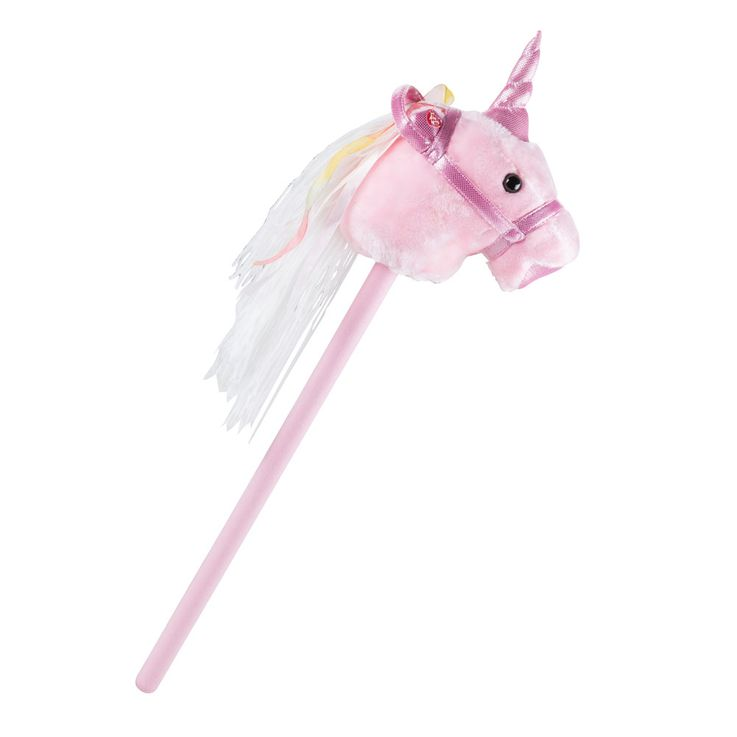 Plug horse pink girl plush sound effect unicorn children room toy pink BHP B800002 – Bild 1