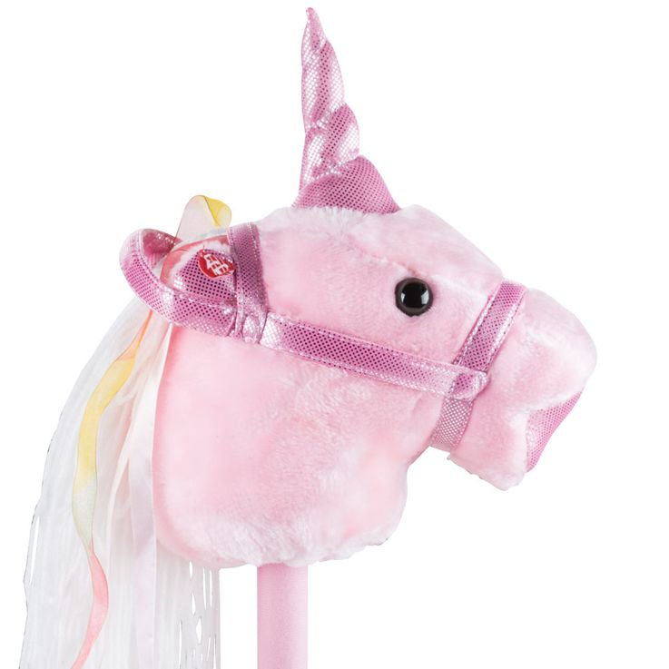 Plug horse pink girl plush sound effect unicorn children room toy pink BHP B800002 – Bild 3