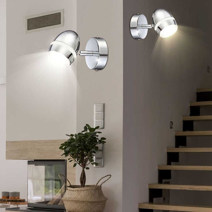 Set of 3 LED wall lights for the living room MANJOLA – Bild 5