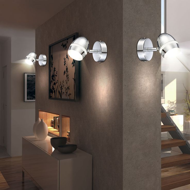 Set of 3 LED wall lights for the living room MANJOLA – Bild 2