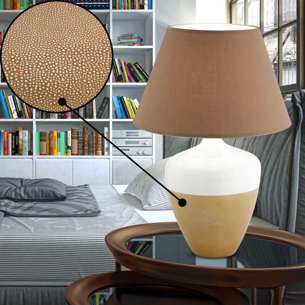 tischlampe f r ihr esszimmer mit stoff schirm derby lampen. Black Bedroom Furniture Sets. Home Design Ideas