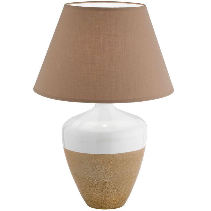 Lampe de table salon salle à manger en céramique abat-jour en tissu Honsel Leuchten 56177 – Bild 1