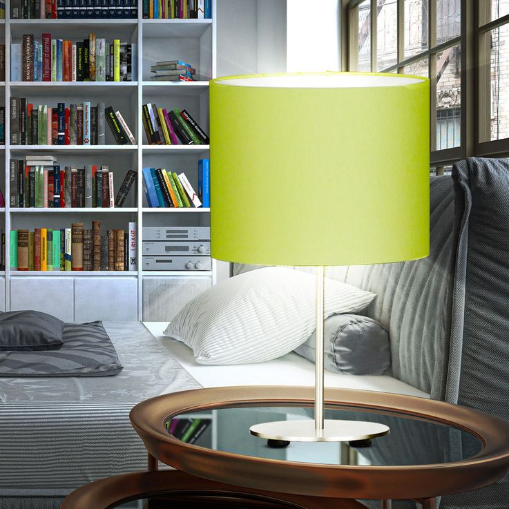 Textile table lamp in green with switch ESTADIO – Bild 3