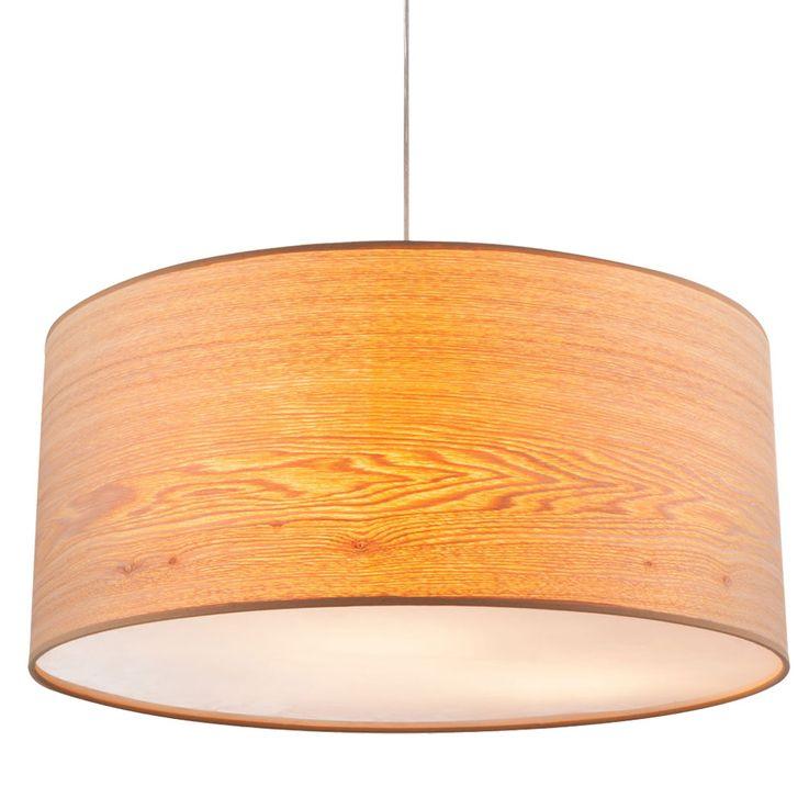 Design LED pendant lamp with wood look lampshade AMY II – Bild 5