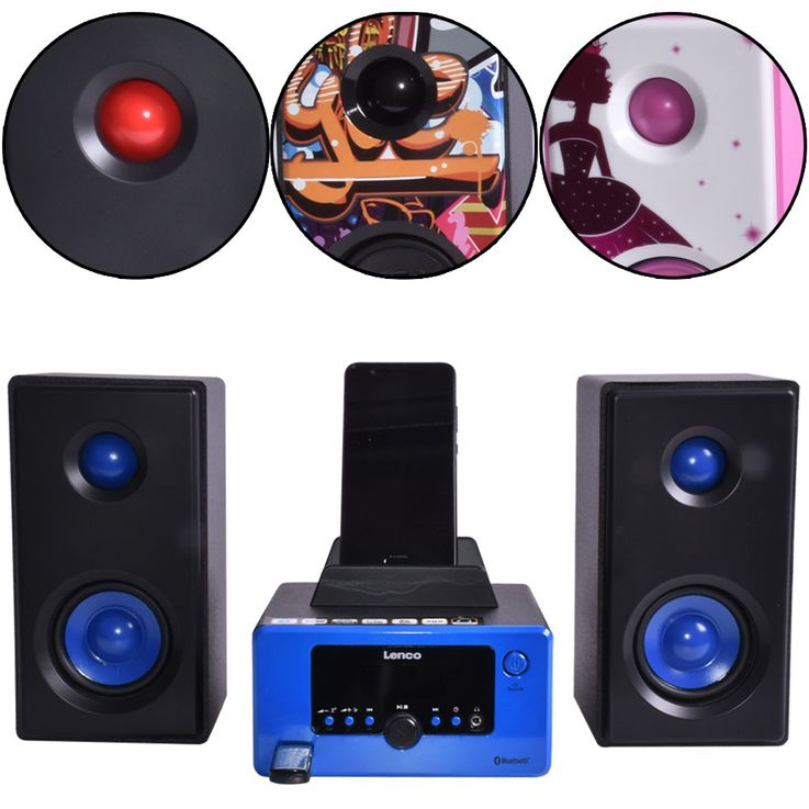 USB Player Radio Bluetooth Hifi System Music Player Alarm Clock AUX IN LCD Display Lenco MC-020 – Bild 1