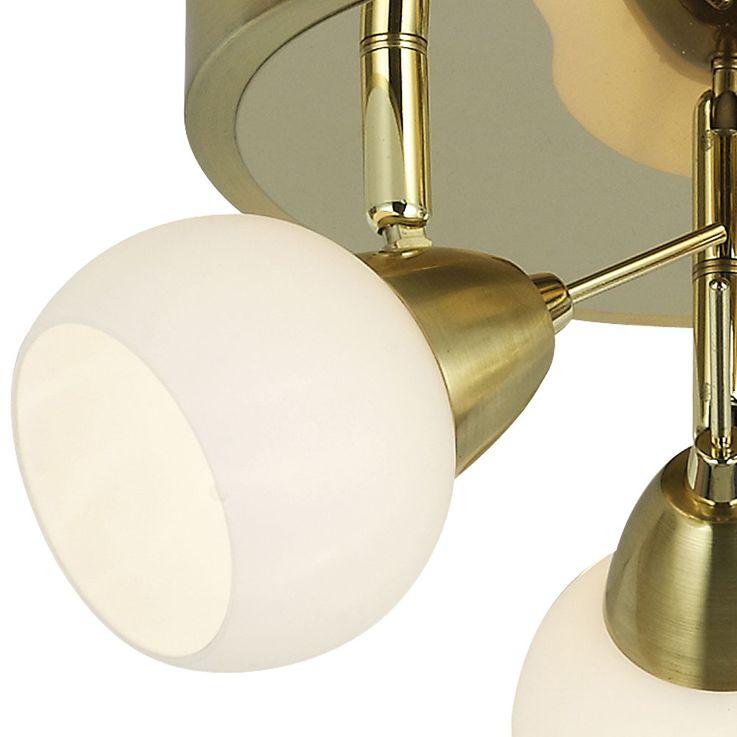 LED Rondelle Ceiling Spotlight Fixture Spots Portable Living Room Lighting Brass Lamp  Esto 760055-3 – Bild 3