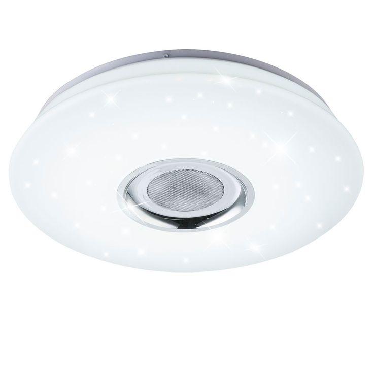 RGB LED Decken Lampe Flur Bluetooth MP3 Lautsprecher CCT Sternen Leuchte DIMMBAR Globo 41329-18 – Bild 1